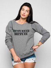 Bluza Diamante Wear Bitchie Bitch szara