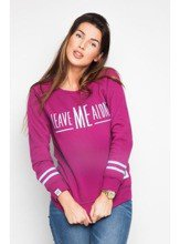 Bluza Diamante Wear Leave Me bordo-błękit